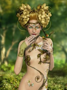 Fairy with wheat crown